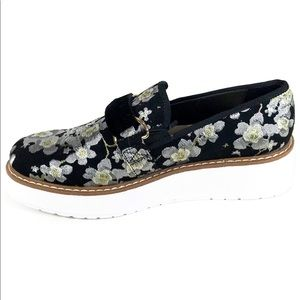 Zara Floral Print Platform Brogues Oxford Shoes